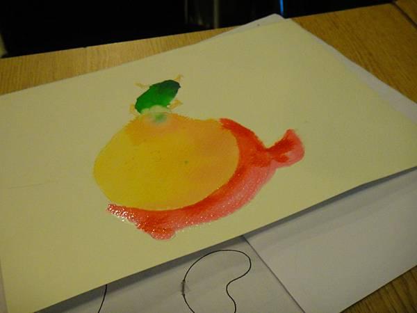 》學生彩色墨水染色練習(3)