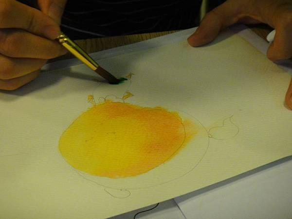 》學生彩色墨水染色練習(2)