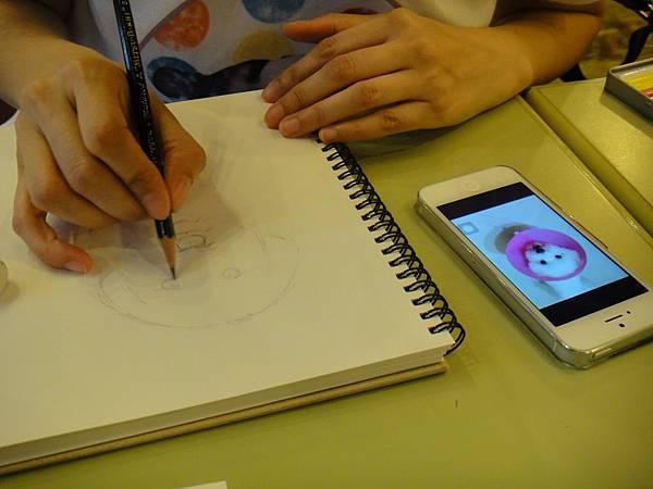 》學生色鉛畫寵物_練習(1)