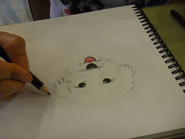》學生色鉛畫寵物_練習(8)