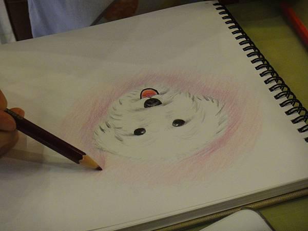 》學生色鉛畫寵物_練習(9)