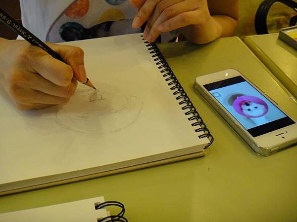 》學生色鉛畫寵物_練習(2)
