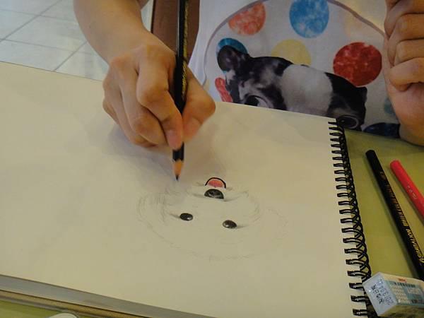 》學生色鉛畫寵物_練習(7)