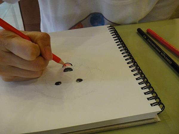 》學生色鉛畫寵物_練習(5)
