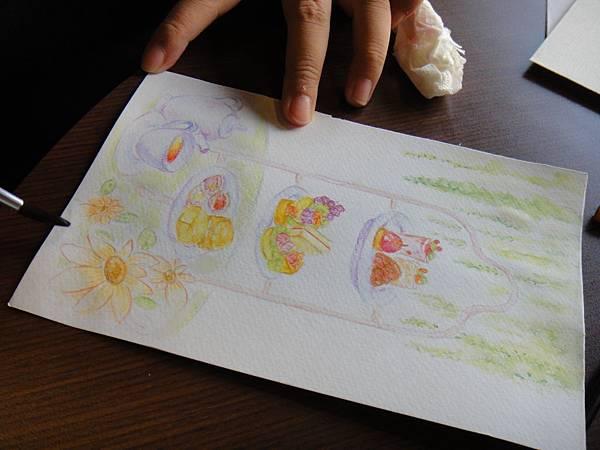 》學生英式下午茶淡彩畫練習(15)
