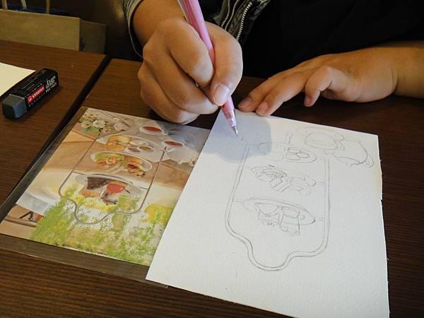 》學生英式下午茶淡彩畫練習(1)