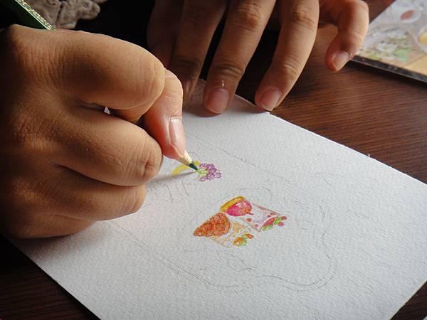 》學生英式下午茶淡彩畫練習(5)