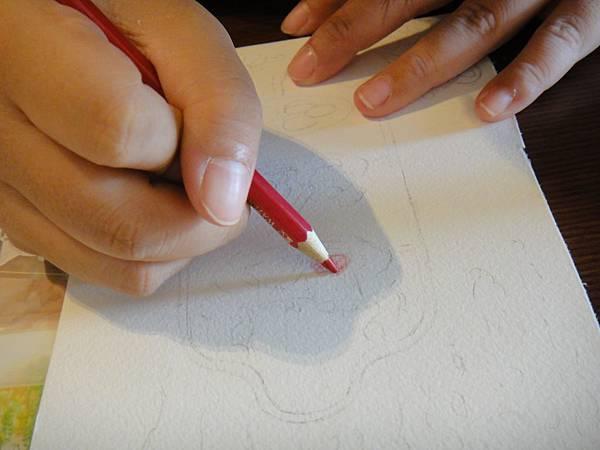 》學生英式下午茶淡彩畫練習(2)