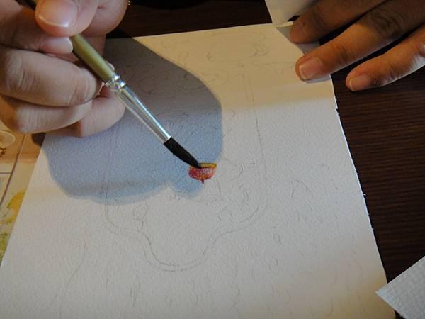 》學生英式下午茶淡彩畫練習(3)