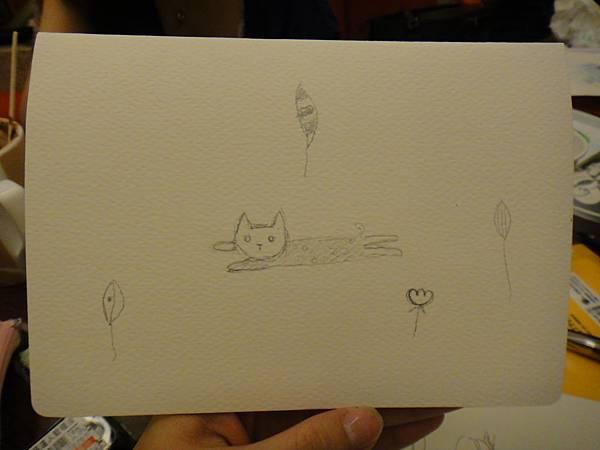 》學生淡彩卡片製作(LaLa)-5(背面)