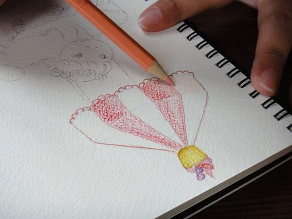 》學生淡彩插畫(色鉛刷水)_遊樂園子(7)