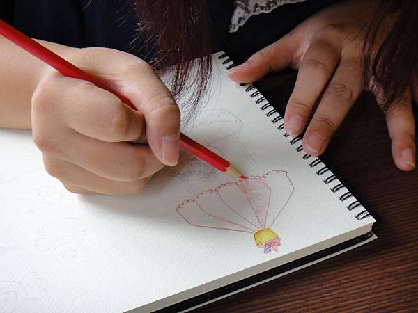 》學生淡彩插畫(色鉛刷水)_遊樂園子(5)