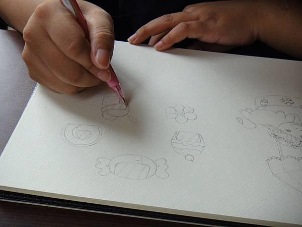 》學生淡彩插畫(色鉛刷水)_遊樂園子(4)