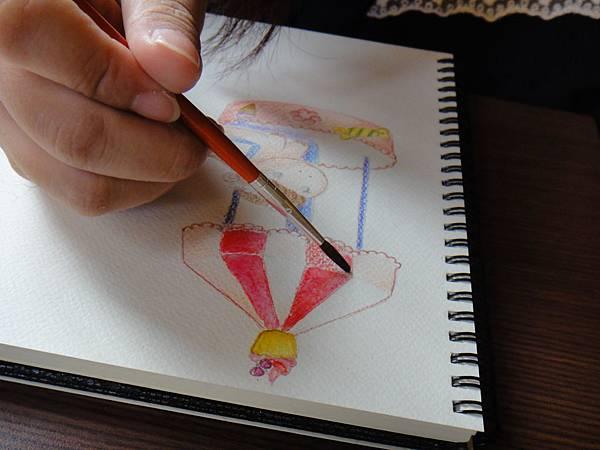 》學生淡彩插畫(色鉛刷水)_遊樂園子(11)