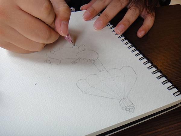 》學生淡彩插畫(色鉛刷水)_遊樂園子(1)