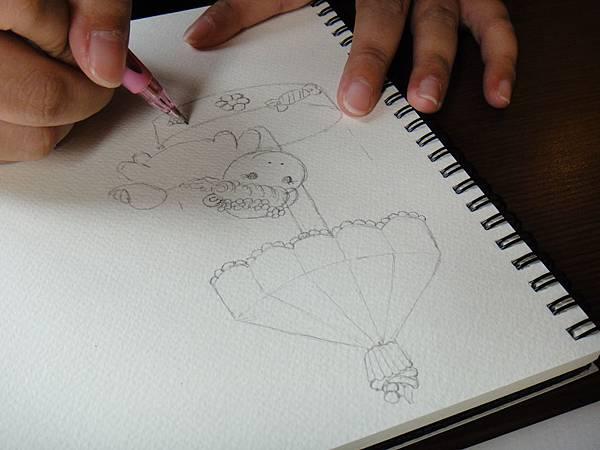 》學生淡彩插畫(色鉛刷水)_遊樂園子(3)