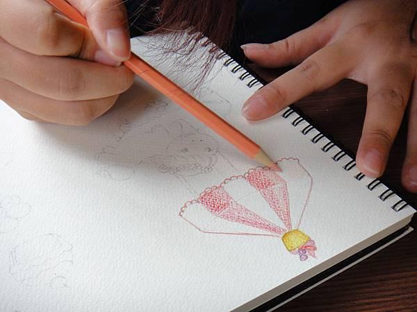 》學生淡彩插畫(色鉛刷水)_遊樂園子(6)