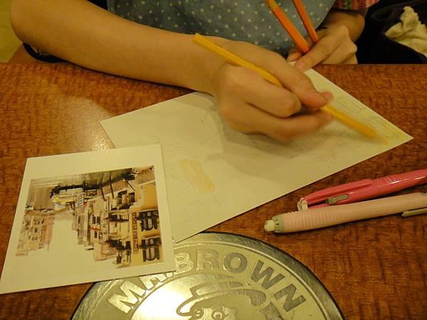 》學生色鉛刷水風景畫(1)
