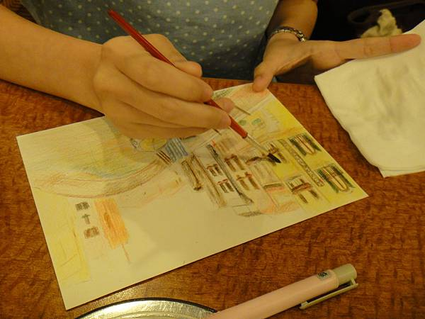》學生色鉛刷水風景畫(5)
