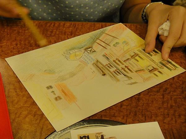 》學生色鉛刷水風景畫(4)
