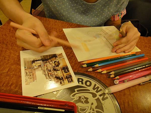 》學生色鉛刷水風景畫(2)