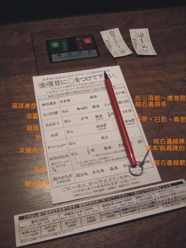 20120229一蘭拉麵menu