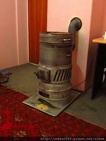 飯店內的火爐