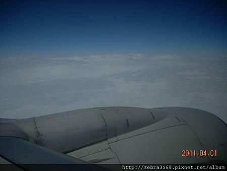 飛機上~白雲
