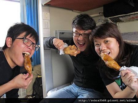 火車上的扒雞餐