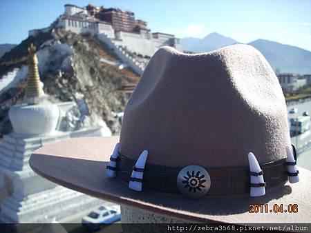 布達拉宮-皮帽