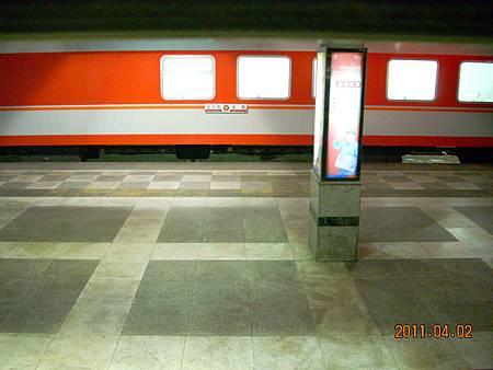 成都北站的月台