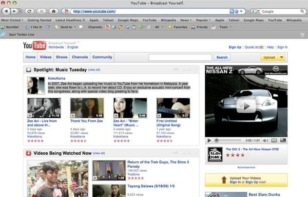 YouTube為季小薇在首頁設立專屬頻道.JPG