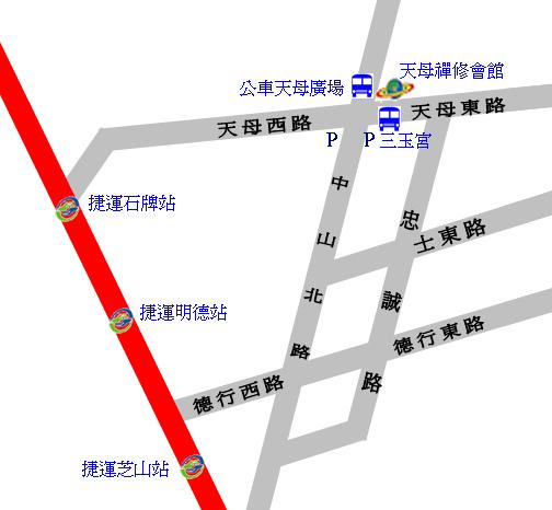 天母禪修會館_簡圖