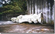 被政府違法拆除的明安寺觀世音菩薩雕像