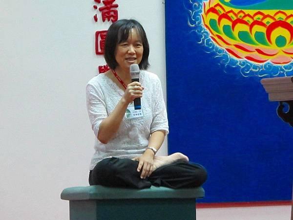 交大電機工程系教授羅佩禎師姐,法號覺妙道蓮
