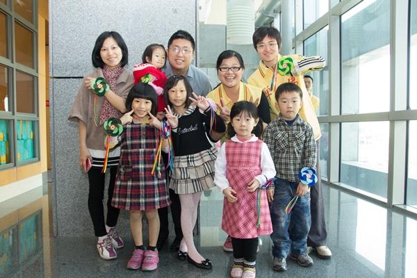 板橋區的親子開心合照