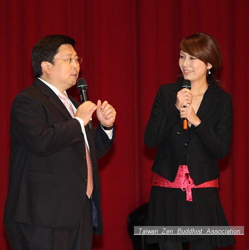 俊男美女主持人組:陳立白先生與陳婉若小姐
