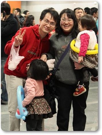 幸福洋溢的一家人