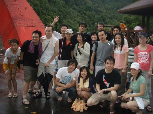 回家前的團體照