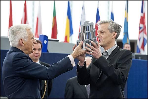 歐盟光線大獎_製作人Marc Bordure領獎