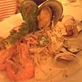 義式海鮮麵(白醬)