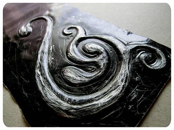 金屬押花 鋁片 黑漆