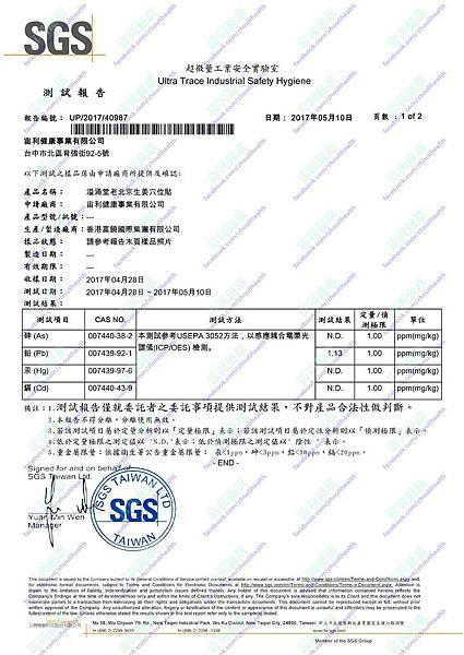 SGS生薑檢驗報告-1