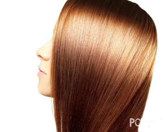 Long straight hair girl lovely hair tie method