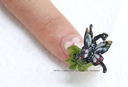 夢幻夾心水晶指甲