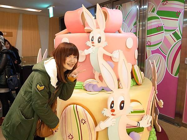 好口愛的兔子蛋糕
