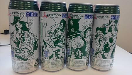 三矢蘇打航海王ONEPIECE 15週年限定版 全套