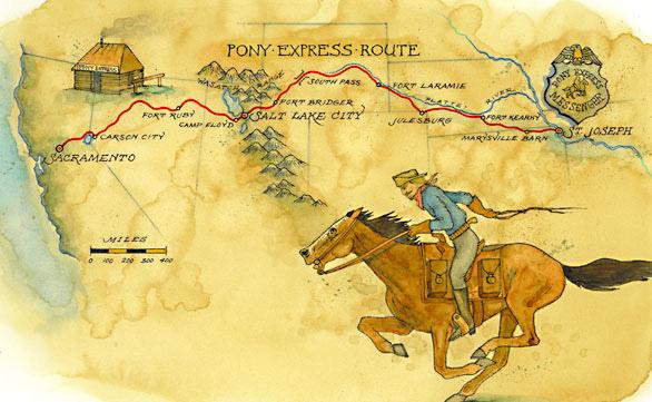 「小馬快遞」(Pony Express)