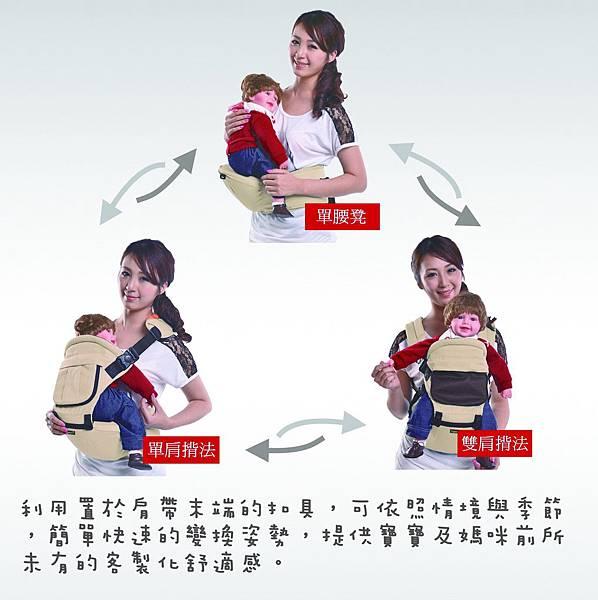 ❤單一坐墊式、單肩揹帶式、雙肩揹帶式皆可使用❤