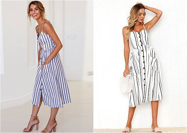990102Chic Stripe Sling Summer Holiday Pocket Midi Dress 1.jpg